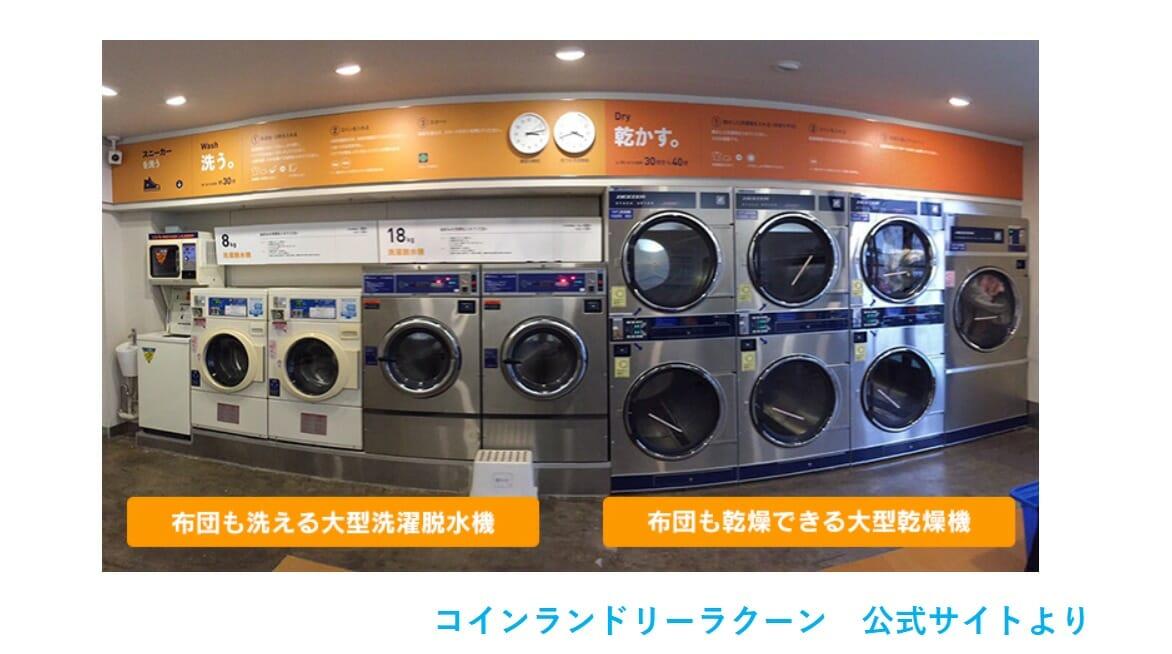 コインランドリーラクーン松ノ木店