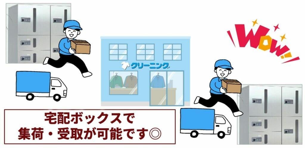 宅配ボックスを使えば、集荷・受取が全て自動で可能です。